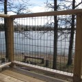 Wire grid fence panels - perfect for those locations where you'd rather admire the view than the fence.